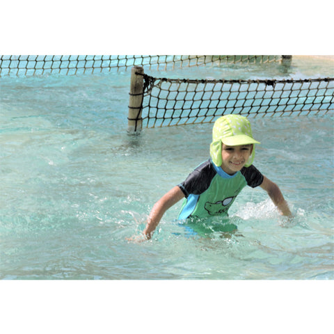 Jona Summer Fun Splash Cap Dolphin Green Small