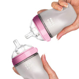 "Comotomo ""Natural Feel"" Baby Bottle (Double Pack) Pink 250ml (8oz)"