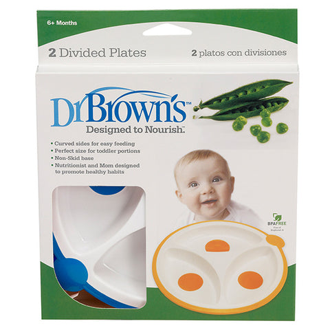 Dr Brown's Divided Plates - 2-Pack