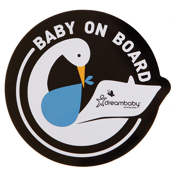Dreambaby® Baby on Board Adhesive Decals (2 Pack) Stork Blue