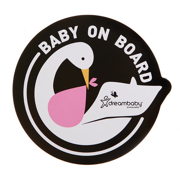 Dreambaby® Baby on Board Adhesive Decals (2 Pack) Stork Pink