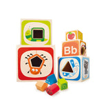 J'ADORE ABC Nesting Blocks and Stacking Sorter Multicoloured