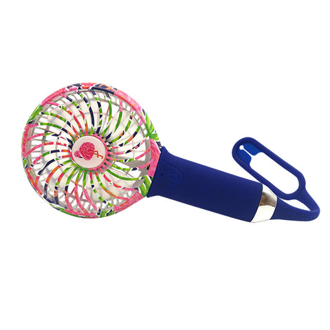 3 SPEED USB RECHARGEABLE COOL FAN LAMINGO PRINT