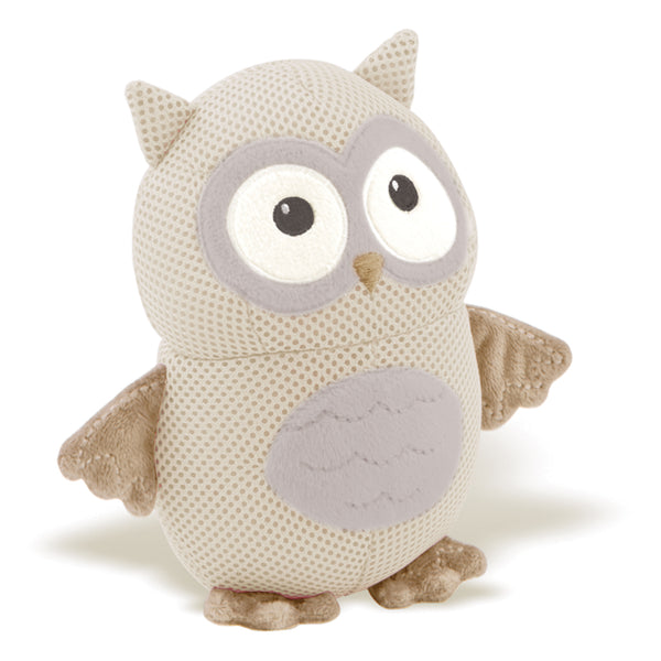BreathableBaby Breathable Soft Toy Owl-Neutral/Gray/Taupe