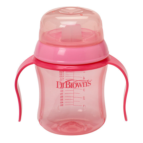 Dr Brown's Training Cup, 6oz Soft Spout - Pink