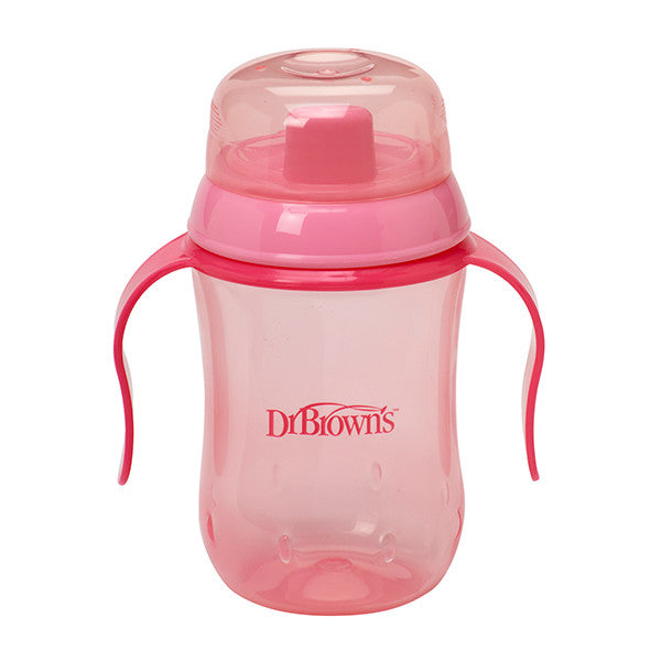 Dr Brown's Training Cup, 9oz Soft Spout - Pink