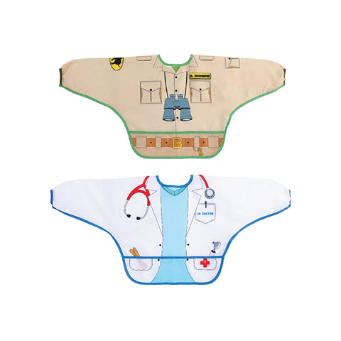 Dreambaby CHARACTER BIBS/SMOCKS WITH SLEEVES 2PK ZOOKEEPER/DOCTOR | حلم الطفل حرف المرايل / SMO CKS مع الأكمام 2PK ZOOK EEPER / DOC تور