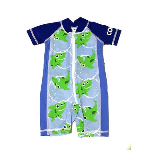 Baby Boy 1 pc swim suit Sz 24m Blue Sharks (2017)