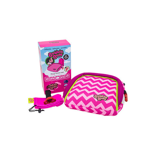 Bubblebum Booster Seat Chevron Pink