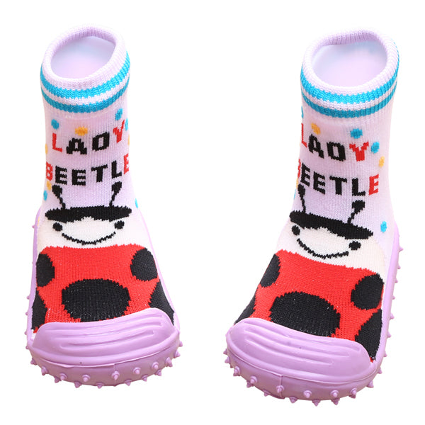 COOL GRIP Baby Shoe Socks (Lady Beetle) SIZE 20