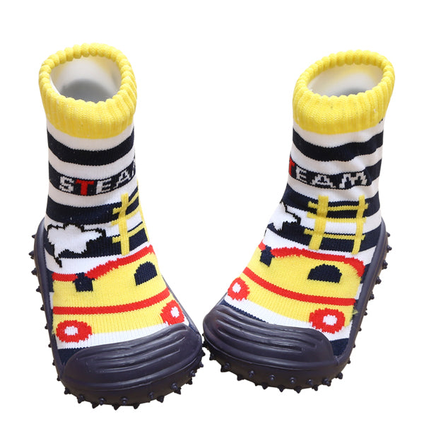COOL GRIP Baby Shoe Socks (Steam Engine) SIZE 23