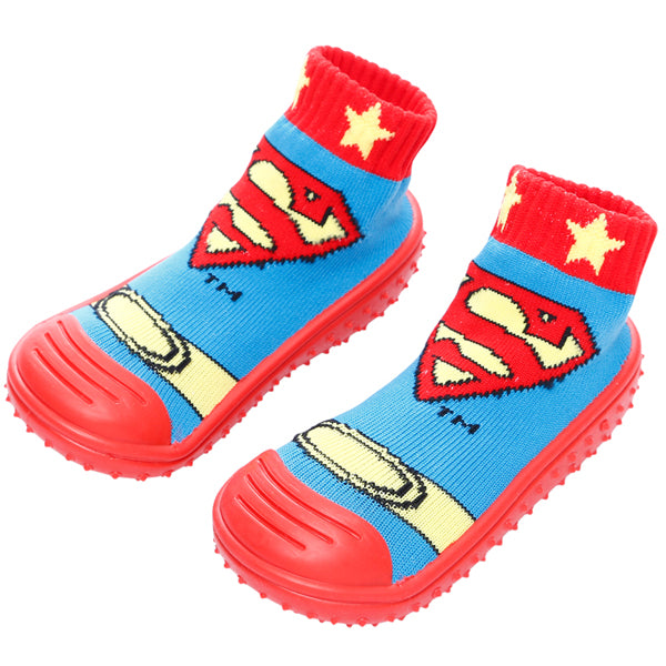 COOL GRIP Baby Shoe Socks (SuperMan) SIZE 19