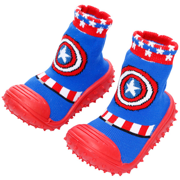 COOL GRIP Baby Shoe Socks (Captain America) SIZE 19