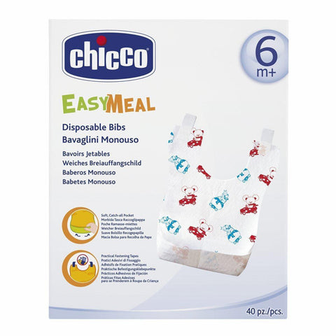 Chicco DISPOSABLE BIBS 40 PCS 6M+