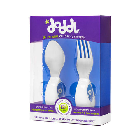 Doddl Cutlery 2 Pcs Set (Spoon & Fork) Blueberry Blue