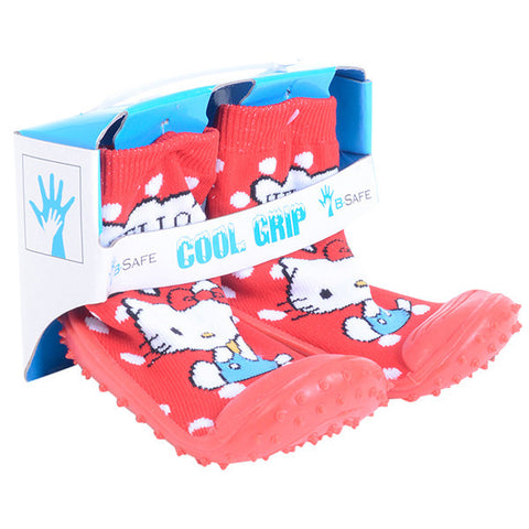 COOL GRIP Baby Shoe Socks Hello Kitty RED Color
