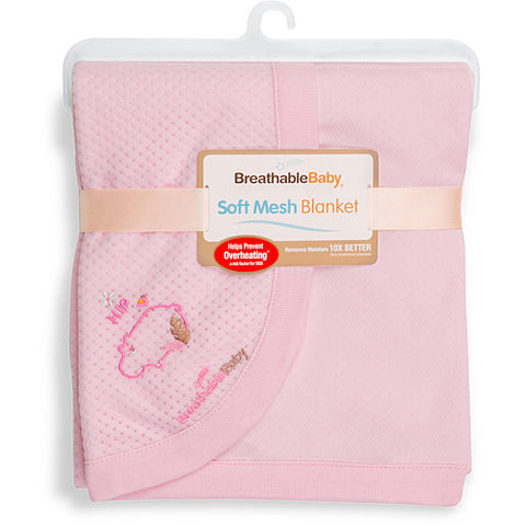 Breathbale Baby Soft Mesh Blanket PINK