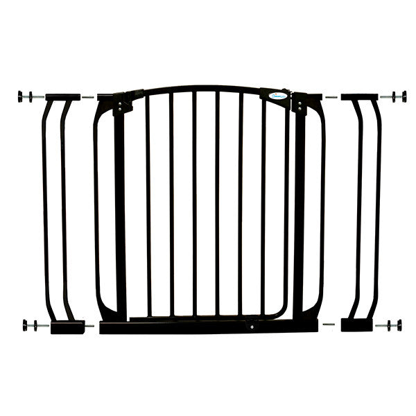 Dreambaby® Chelsea Black Doorway Security Gate & Extension Set (1 Gate F169  +  2 Extensions F159) Black