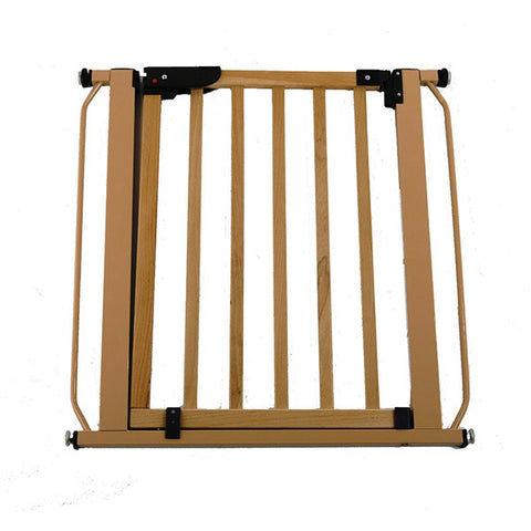 Pressure Gate Wood With Beige Metal