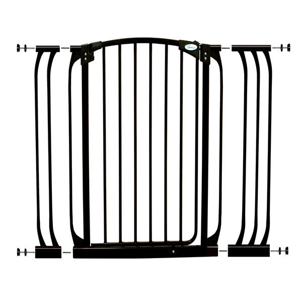 Dreambaby® Chelsea Tall Black Gate & Extension Set (1 Gate + Extension)