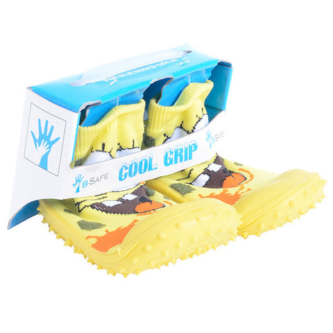 COOL GRIP Baby Shoe Socks Sponge Bob Yellow