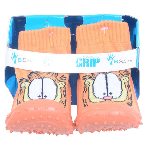 COOL GRIP Baby Shoe Socks Garfield Orange