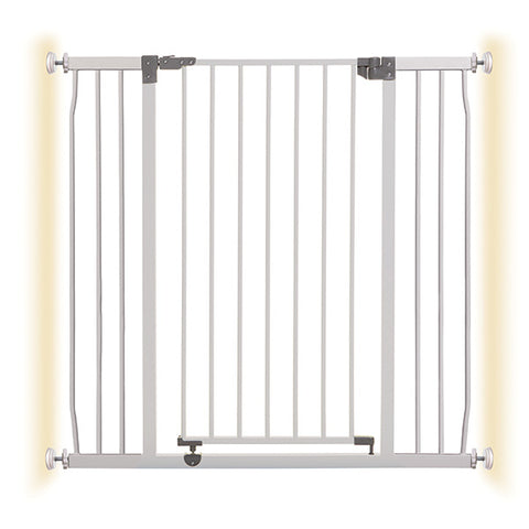 DREAMBABY® LIBERTY XTRA TALL & X-TRA WIDE HALLWAY WHITE METAL SAFETY GATE (PRESSURE MOUNTED)