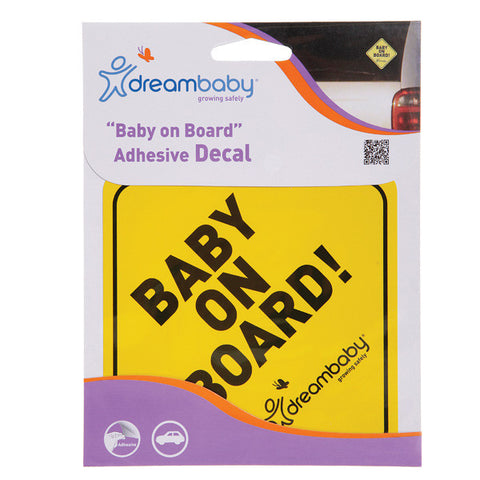 Dreambaby® Baby on Board Adhesive Regular Yellow Single pack