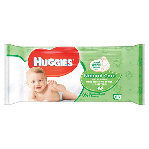 Huggies Baby Wipes Aloe 56 Sheets