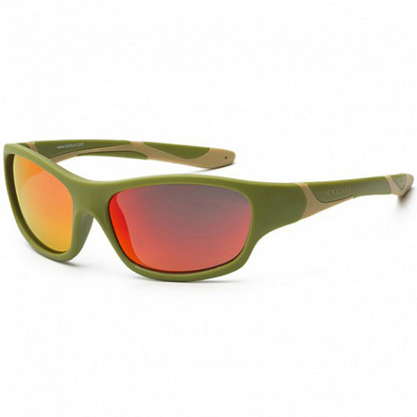 Koolsun Sport kids sunglasses Army Green Taos Taupe 3+