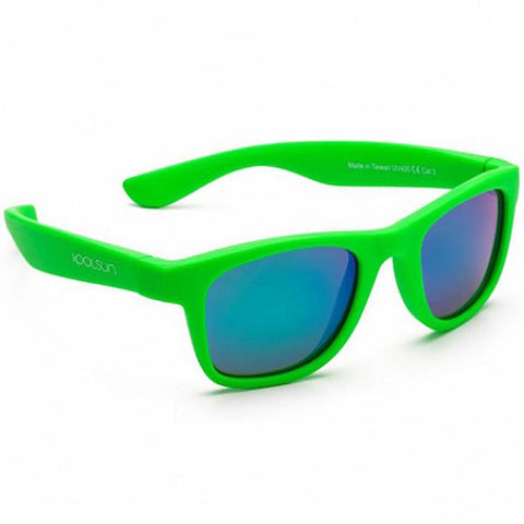 Koolsun Wave kids sunglasses Neon Green 1+