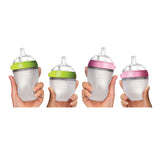 "Comotomo ""Natural Feel"" Baby Bottle (Single Pack) Pink 250ml (8oz)"