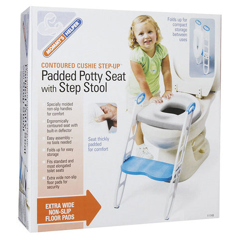 Mommy's Helper Cushie Step-Up Padded Potty Seat with Step Stool