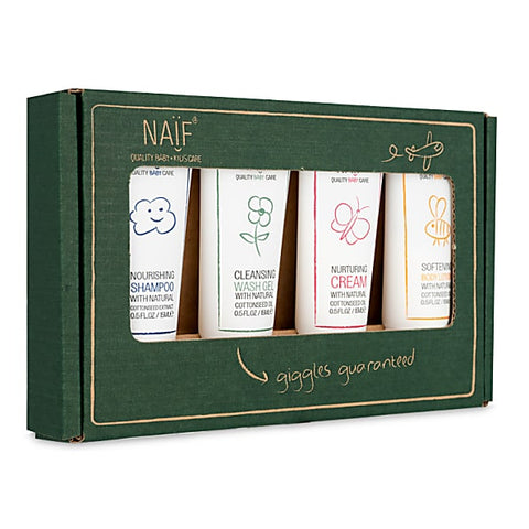 Naif Travel Kit (4x travel size product 15ml + bib)