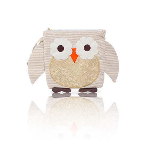 Nikiani My First Snack Buddy Polyester Insulated Snack Bag - Gold Owl
