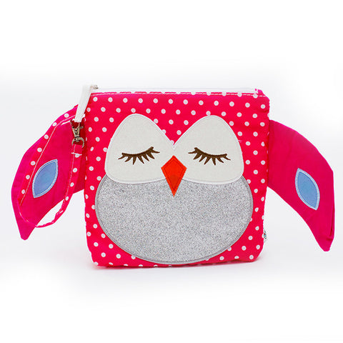 Nikiani My First Snack Buddy Polyester Insulated Snack Bag - Stella Pink Owl