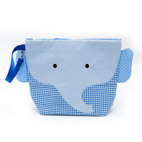 Nikiani My First Snack Buddy Cotton Insulated Snack Bag - Charlie Blue Elephant