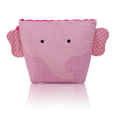 Nikiani My First Snack Buddy Cotton Insulated Snack Bag - Ellie Pink Elephant