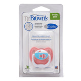 Dr Brown's PreVent Pacifier - Stage 1 * 0-6M - Pink Fish