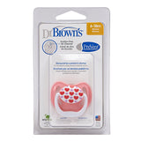 Dr Brown's PreVent Pacifier - Stage 2 * 6-18M - Pink/Purple Hearts