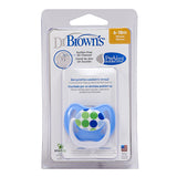 Dr Brown's PreVent Pacifier - Stage 2 * 6-18M - Blue/Green Dots