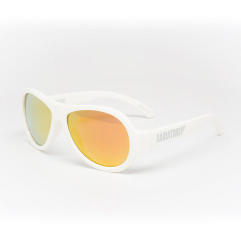 Babiators Polarized Aviator Junior Wicked White