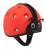 SafeheadBABY Soft Protective Headgear Ladybird RED