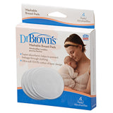 Dr Brown's Washable Breast Pad, 4-Pack