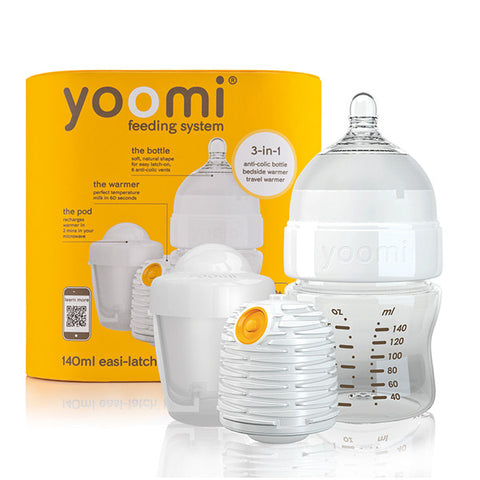 Yoomi 5oz bottle + Warmer + Slow flow teat + Pod