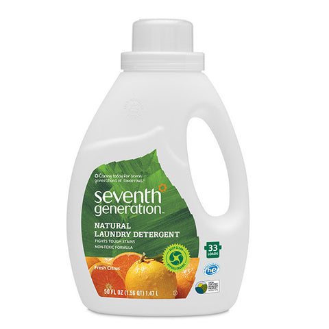 SEV GEN Liquid Laundry 2X Ultra Concentrate - Fresh Citrus Breeze