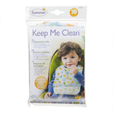 Summer infant keep me clean® disposable bibs 20 pk