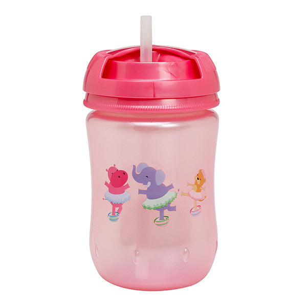 Dr Brown's Straw Cup, 9oz Soft Spout - Pink