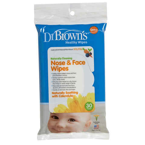 Dr. Brown's  Nose & Face Wipes, 30-Pack