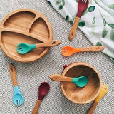 Baby Bamboo Stay Put Suction BOWL + Spoon OG